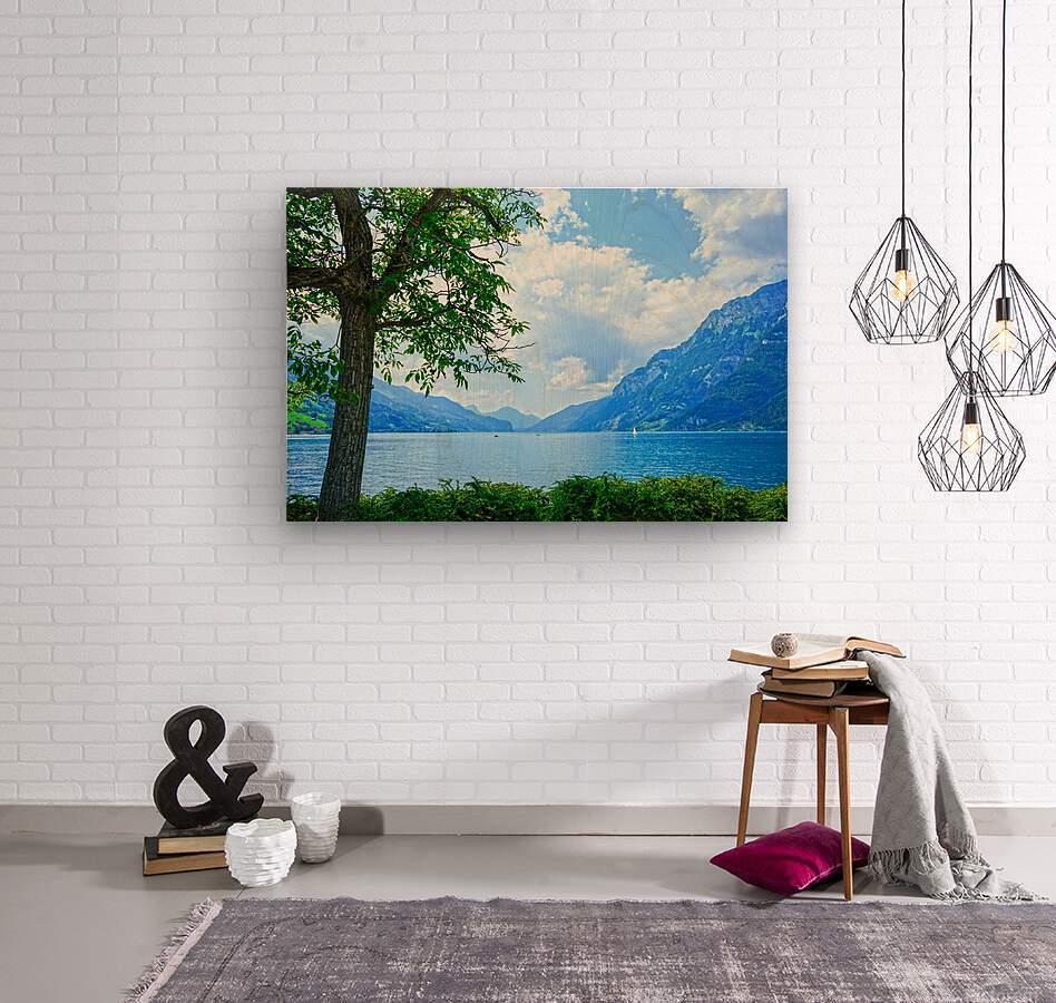 Snapshot in Time Walensee - Lake Walen Switzerland 3 of 3  Wood print