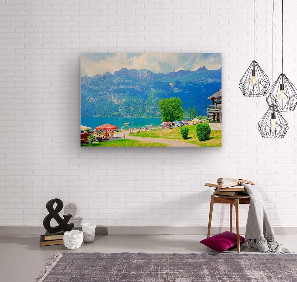 Snapshot in Time Walensee - Lake Walen Switzerland 1 of 3  Wood print