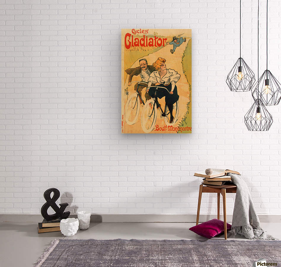 Cycles Gladiator poster in 1897  Wood print