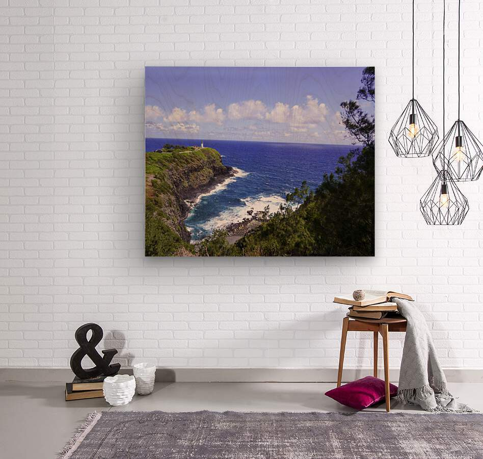 Spring at Kilauea Lighthouse on the Island of Kauai  Wood print