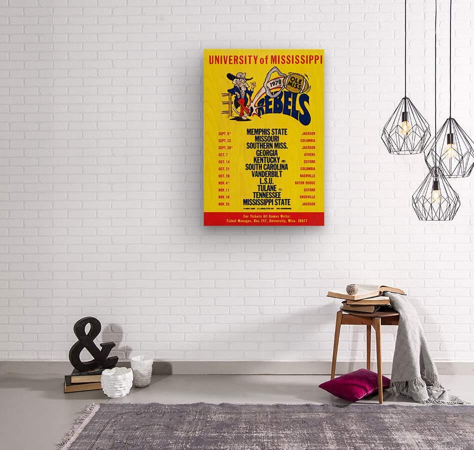 1978 Ole Miss Football Schedule Art  Wood print