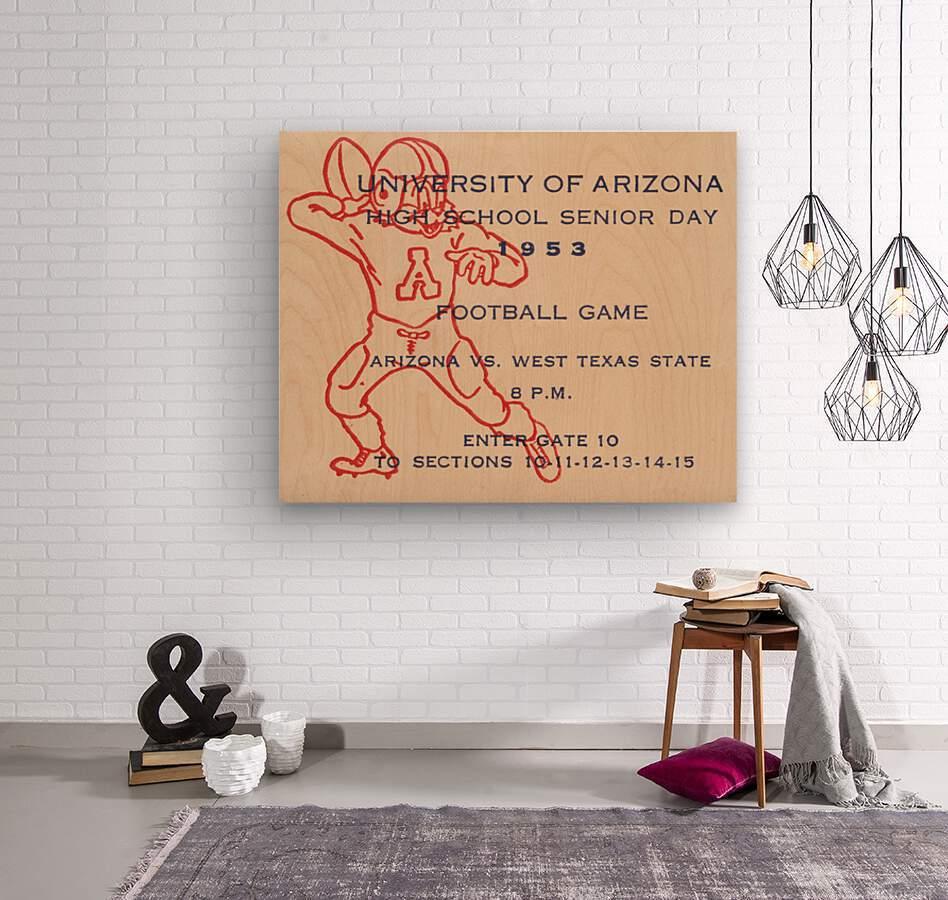 1953 Arizona Wildcats vs. West Texas State   Wood print