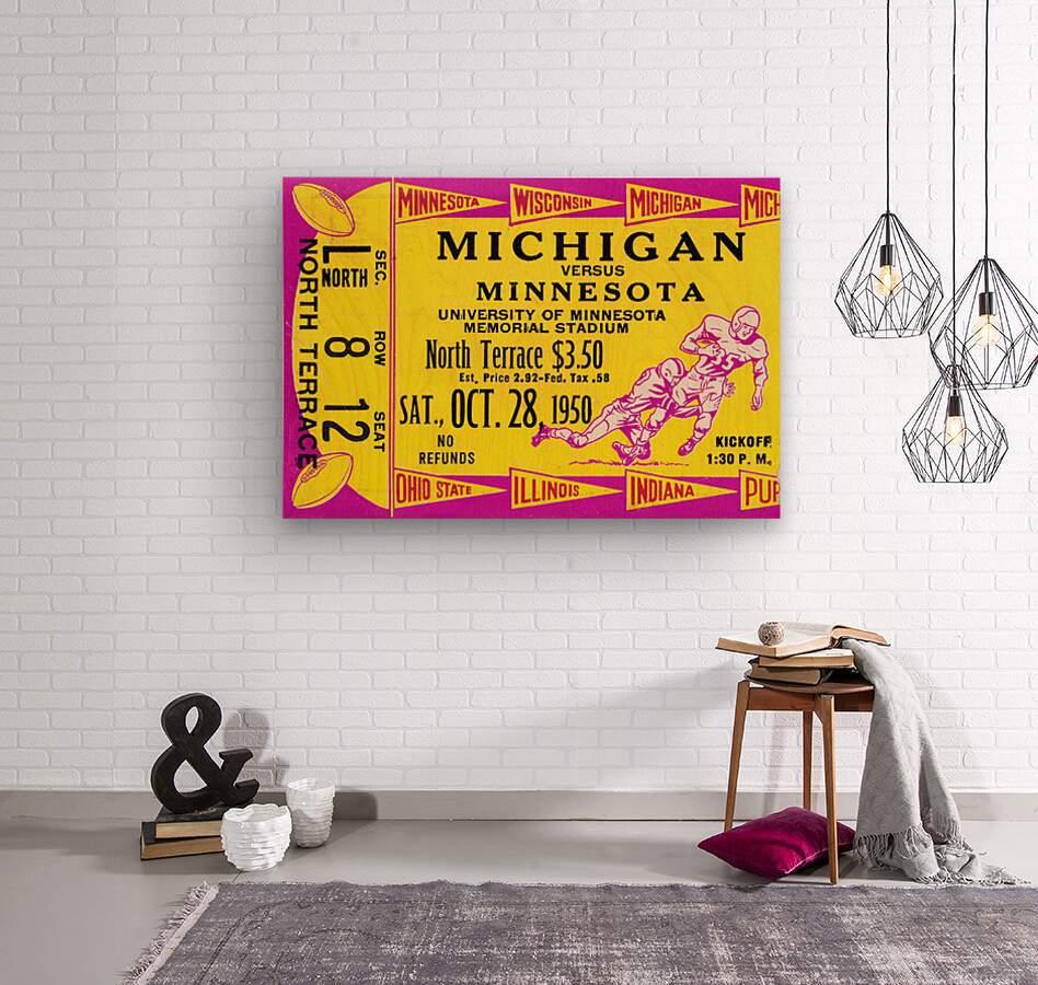 1950 Minnesota Golden Gophers vs. Michigan Wolverines  Wood print