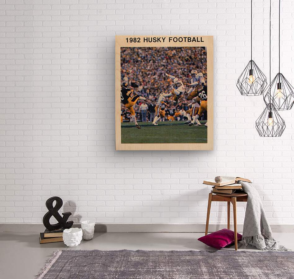 1982 Washington Husky Football Poster  Wood print