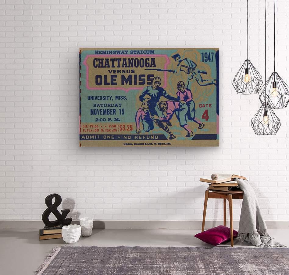 1947 Ole Miss Rebels vs. Chattanooga  Wood print