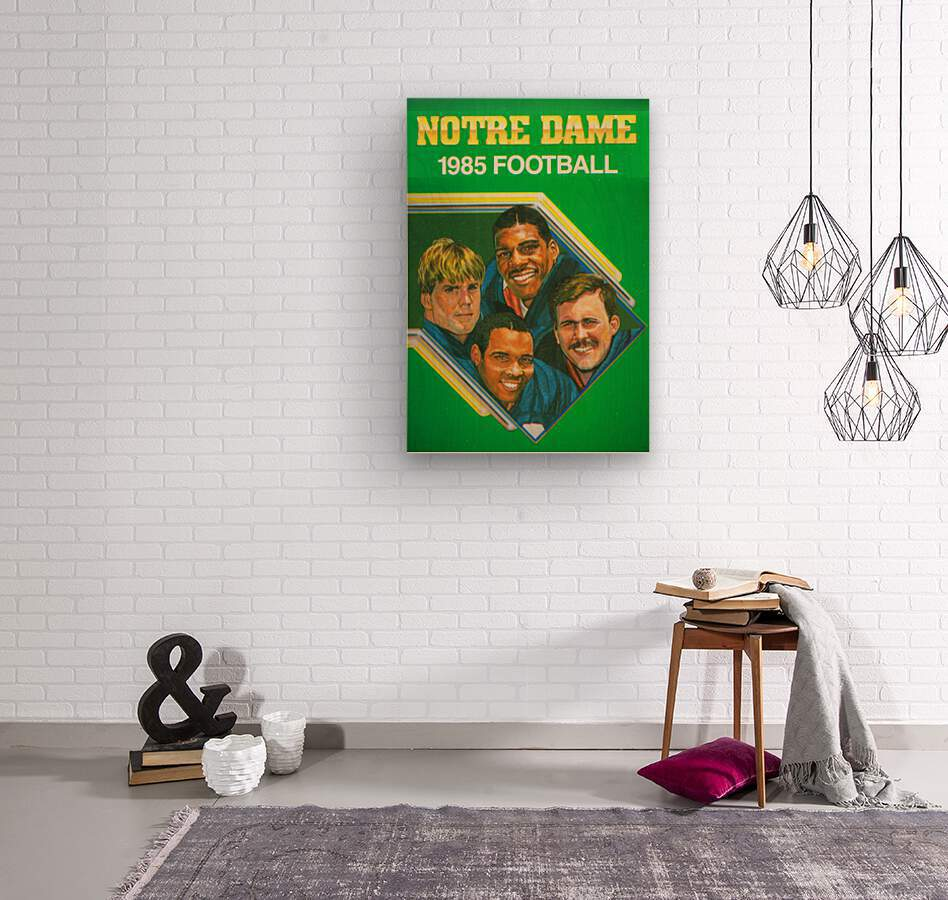 1985 Notre Dame Retro Football Poster  Wood print