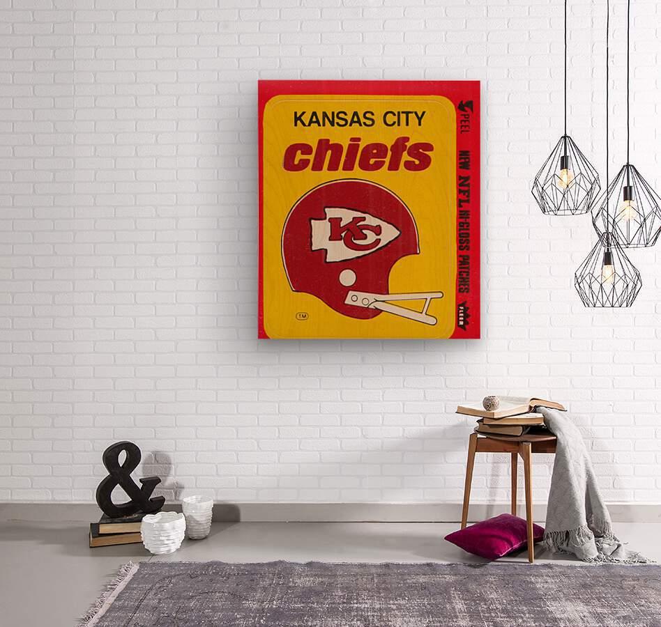 1980 Kansas City Chiefs Fleer Decal Art  Wood print
