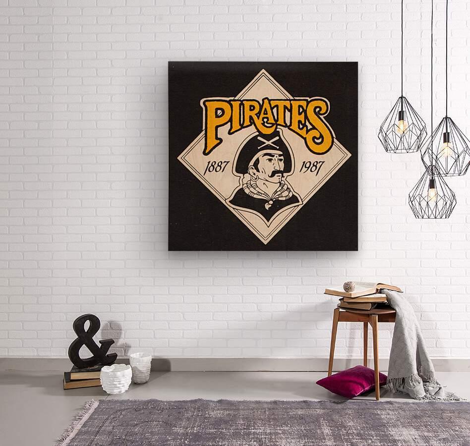 1988 Pittsburgh Pirates Retro Art  Wood print