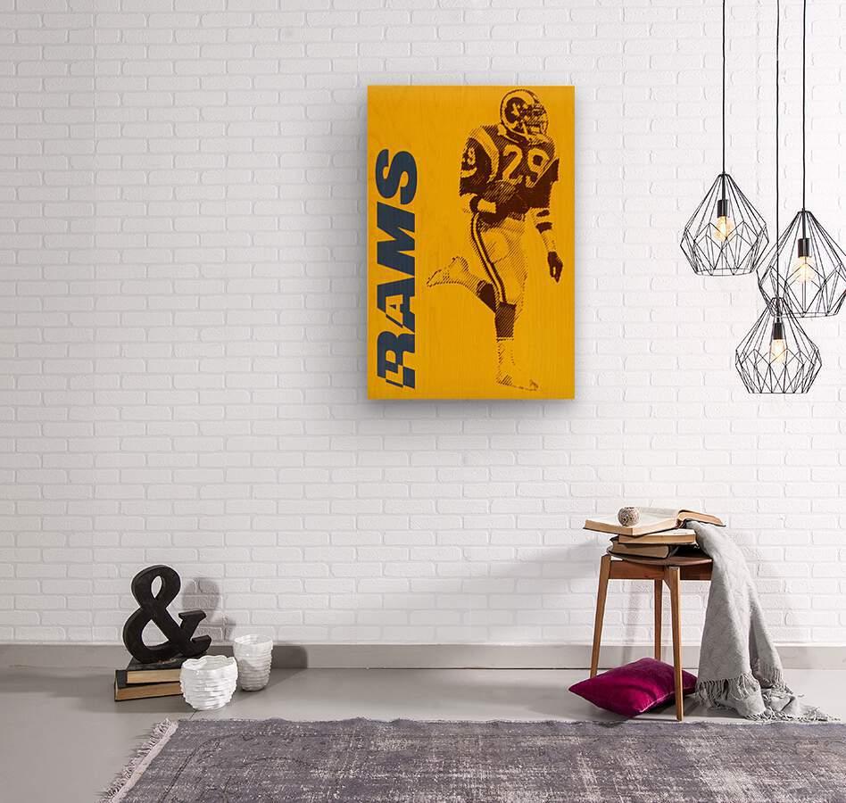 1986 LA Rams Football Art  Wood print