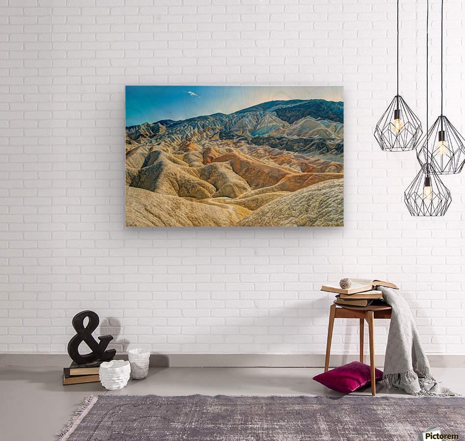 Death Valley Waves  Wood print