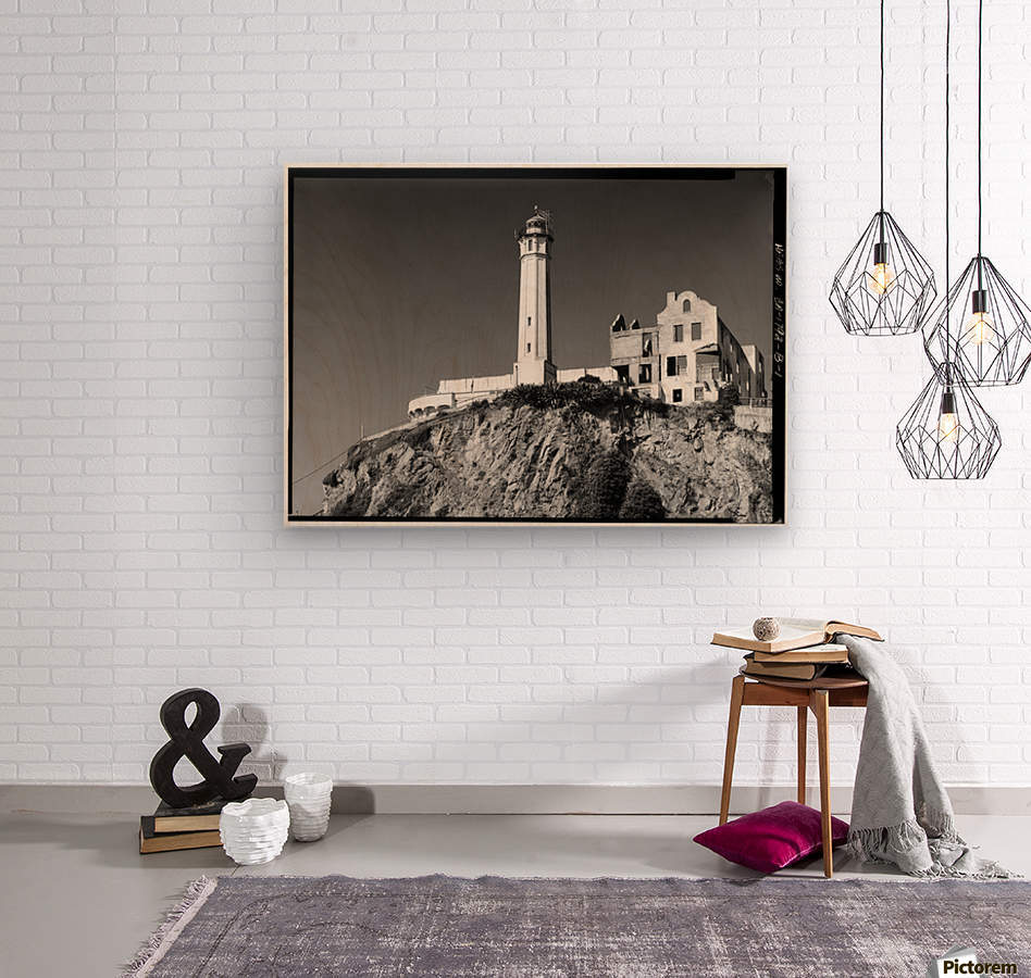 Alcatraz Lighthouse, California  Wood print