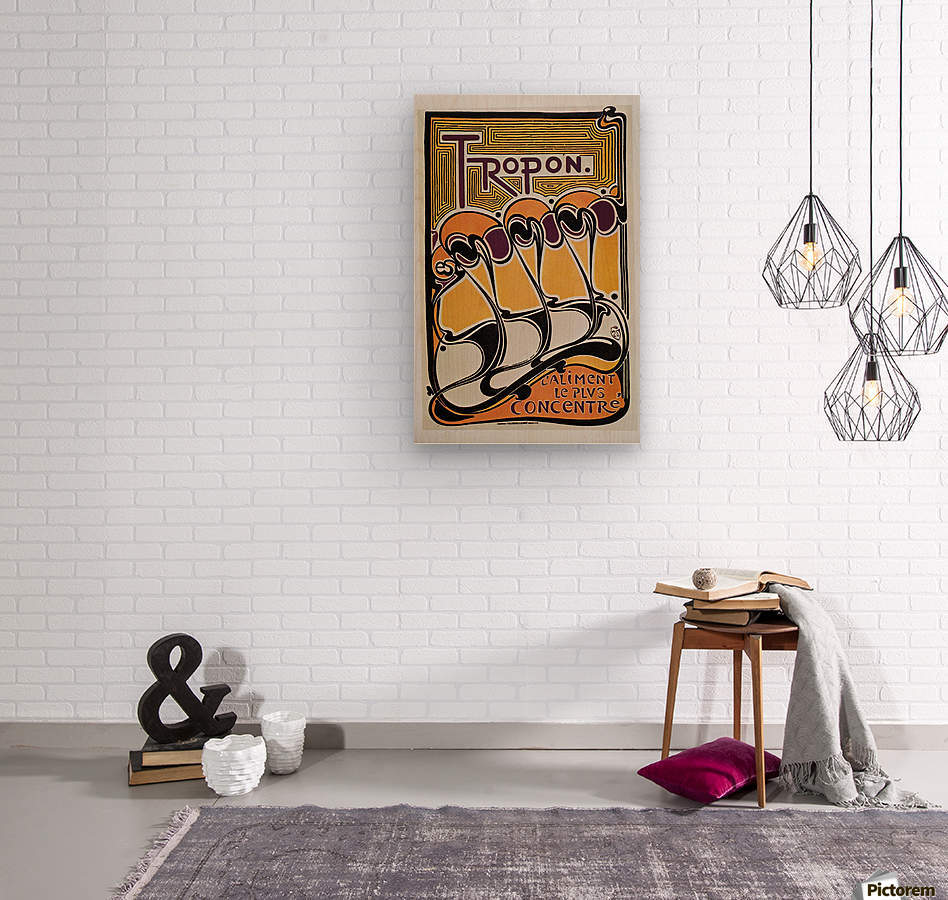 Vintage poster for Tropon food concentrate, 1899  Wood print