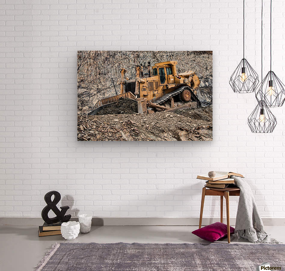 Earth Mover  Wood print