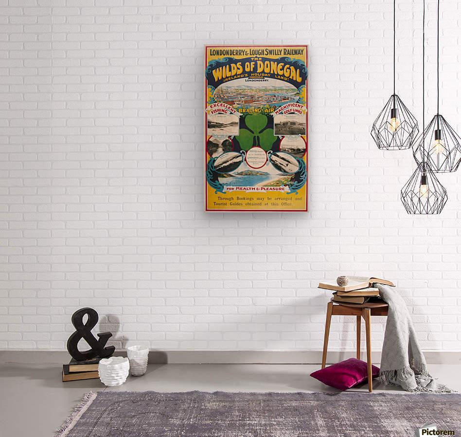 Irish Travel Art Poster, Wilds of Donegal, Ireland  Wood print