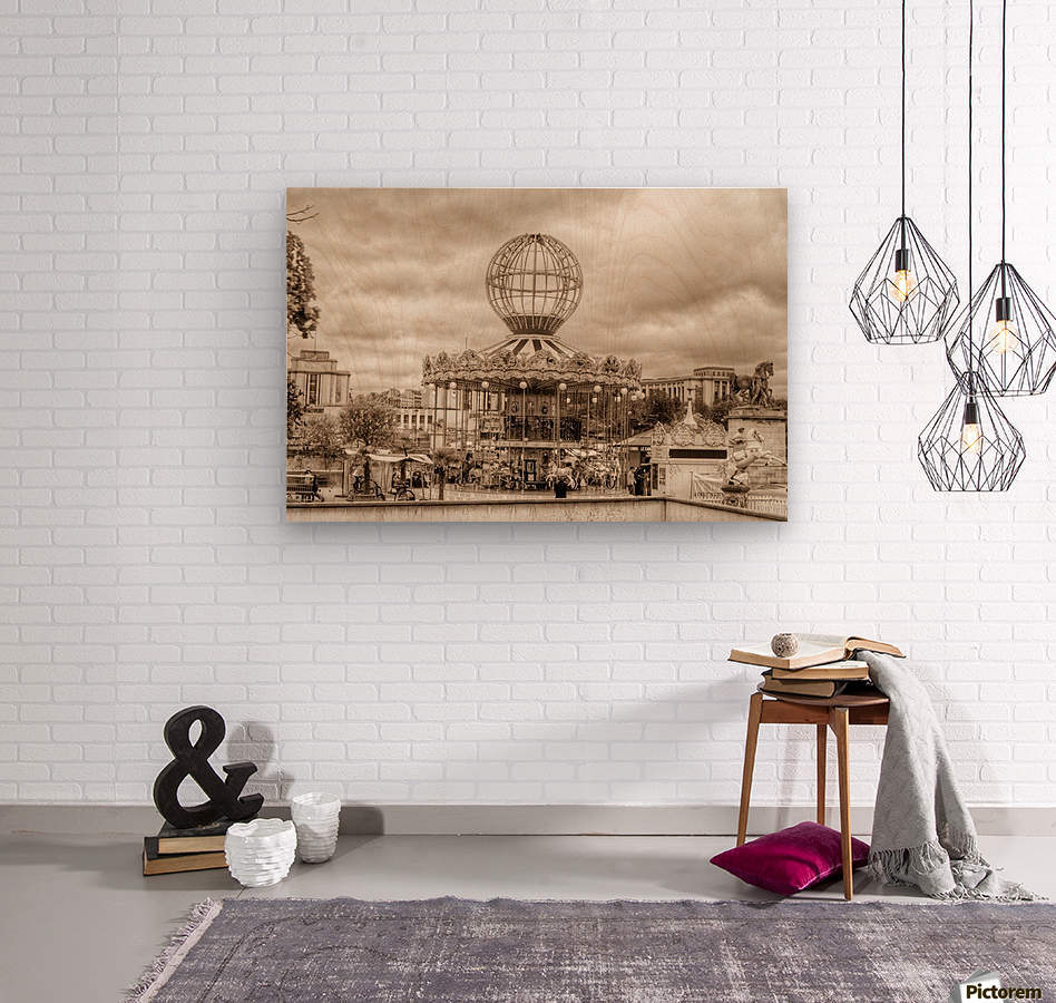 Paris Caroussel  Wood print