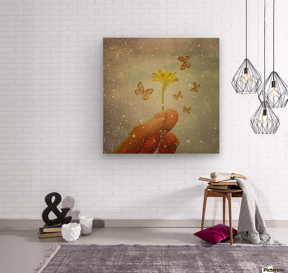 Butterflies Charmer  Wood print