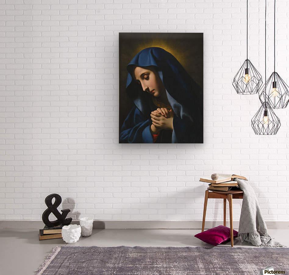 The Madonna at Prayer  Wood print