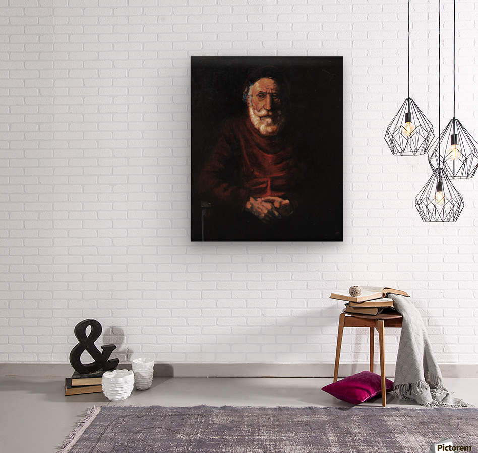 Old man  Wood print