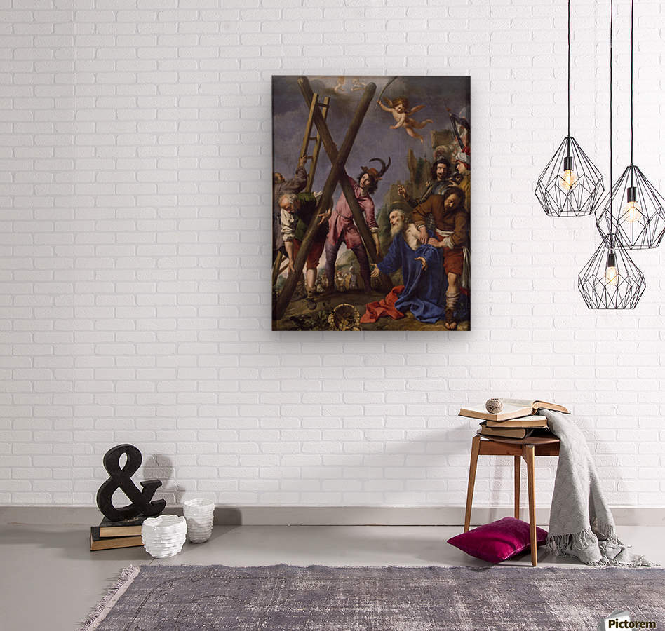 The Martyrdom of St Andrew  Wood print