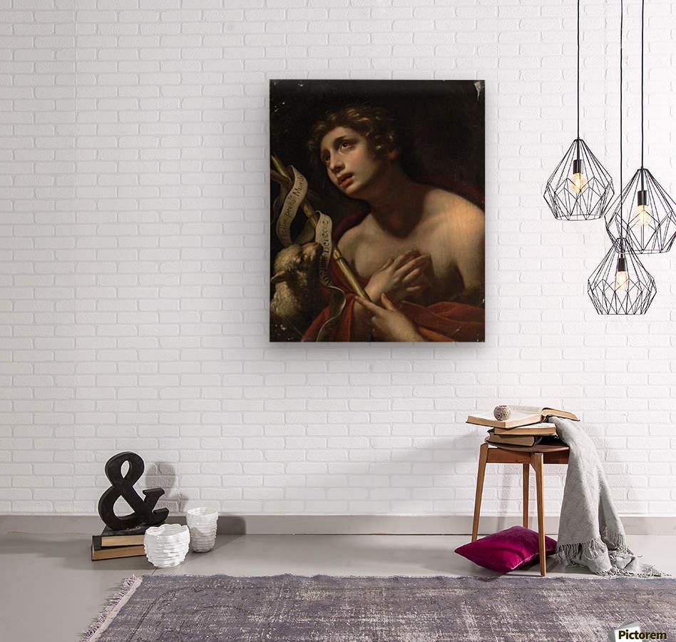 Saint John the Baptist with the Lamb of God  Wood print