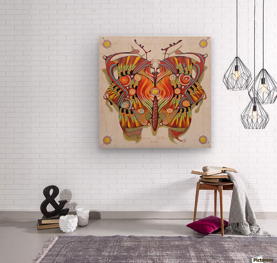 tribal butterfly  Wood print