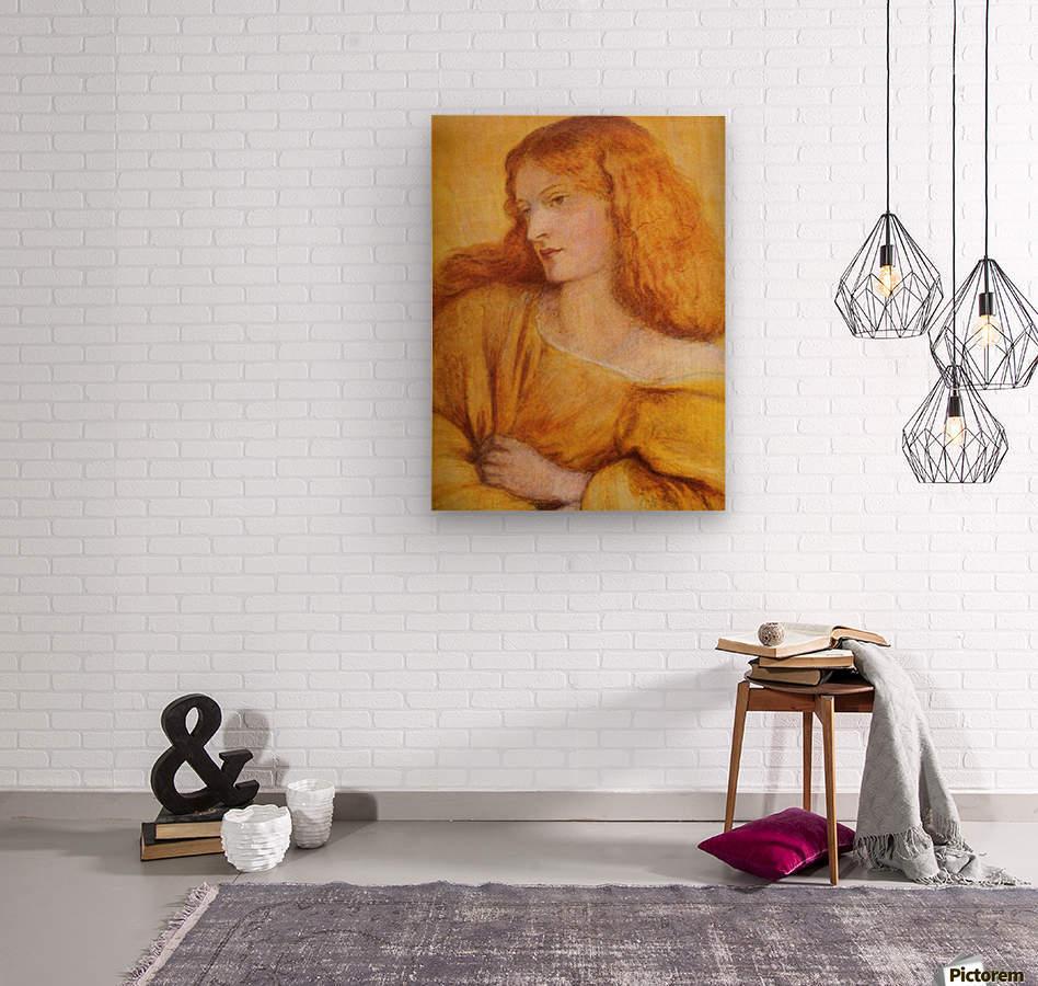 Woman in Yellow  Wood print