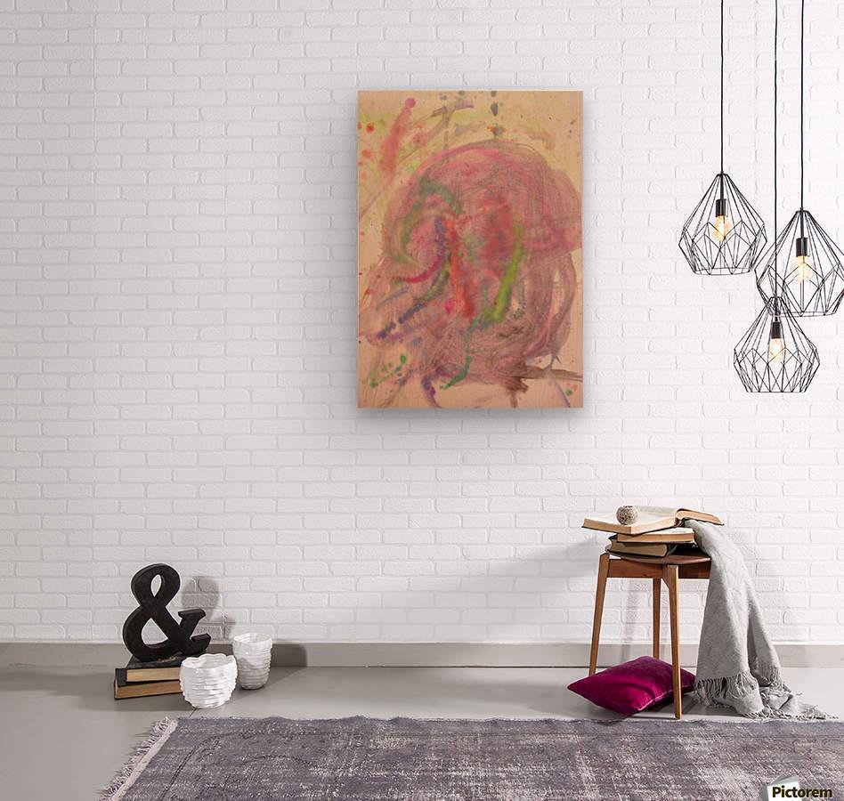 Untitled 1 (Joan Miro tribute)  Wood print