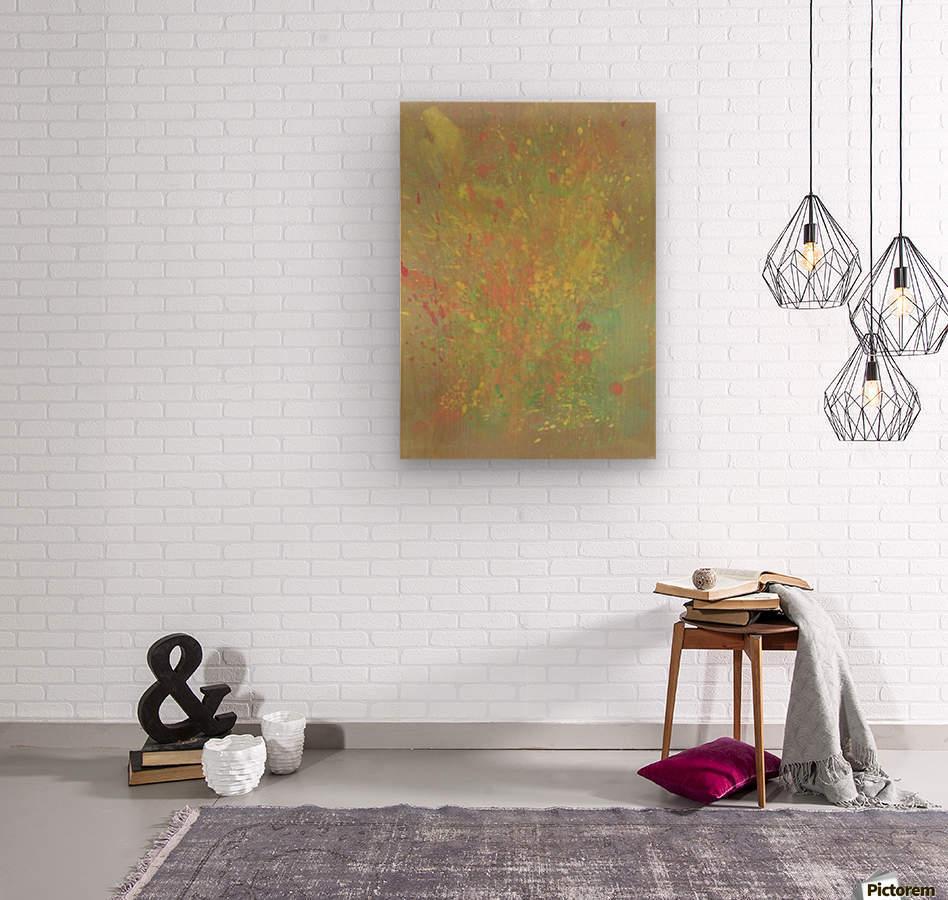Cosmic explosion  Wood print