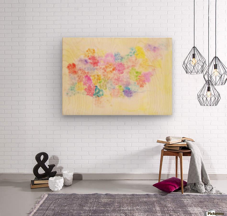Flower jerb  Wood print