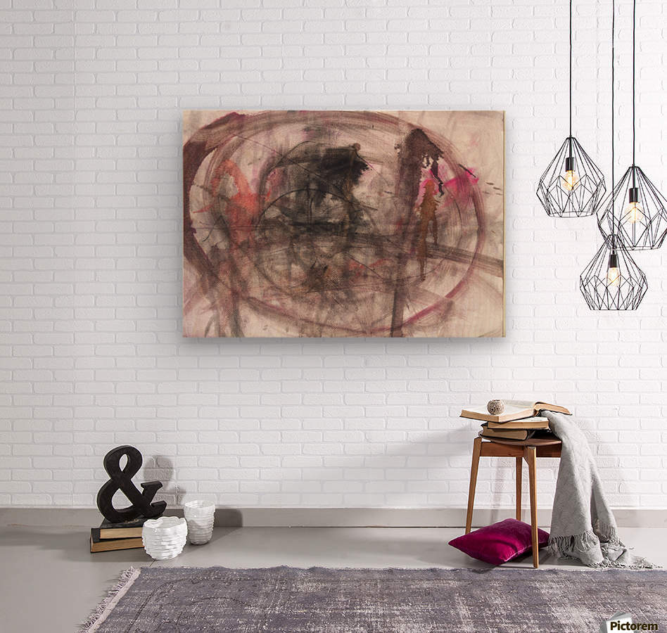 Anger 2  Wood print