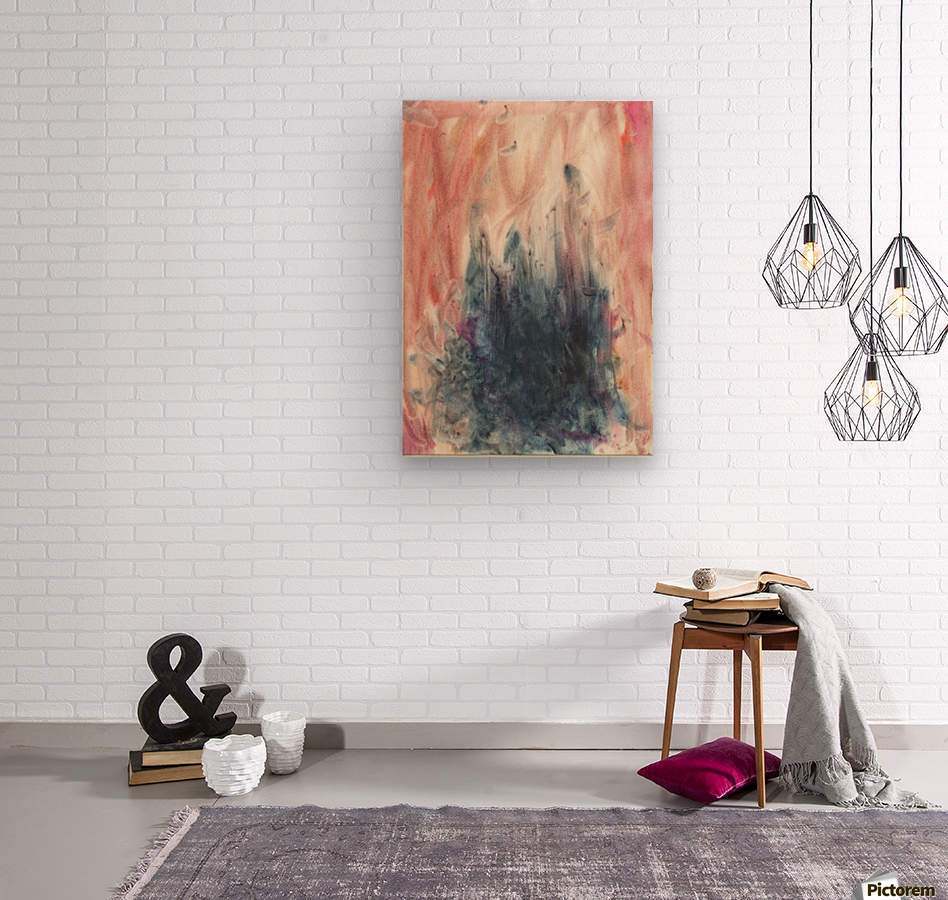 Anger 5  Wood print