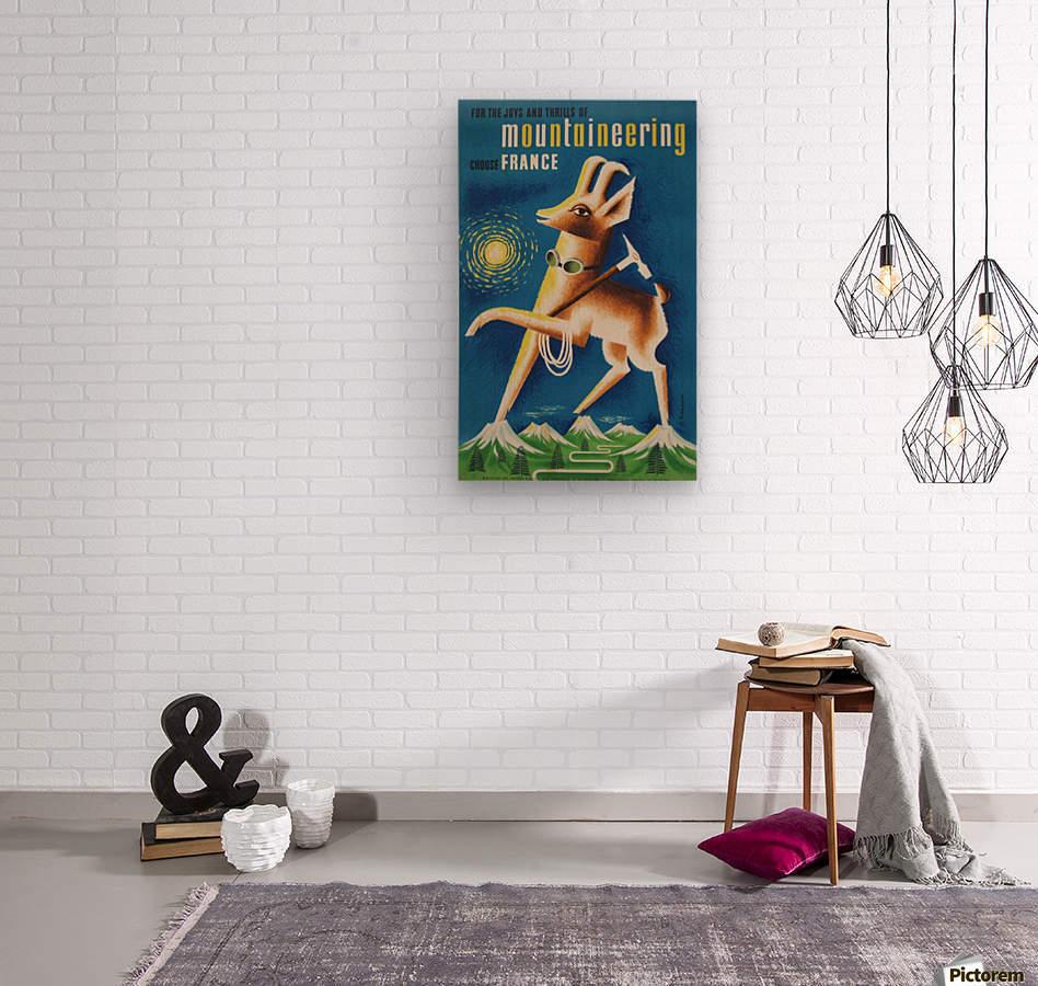 Mountaineering Choose France original vintage poster  Wood print
