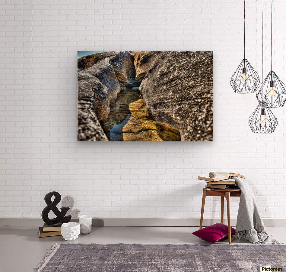Gods Own Watering Hole  Wood print