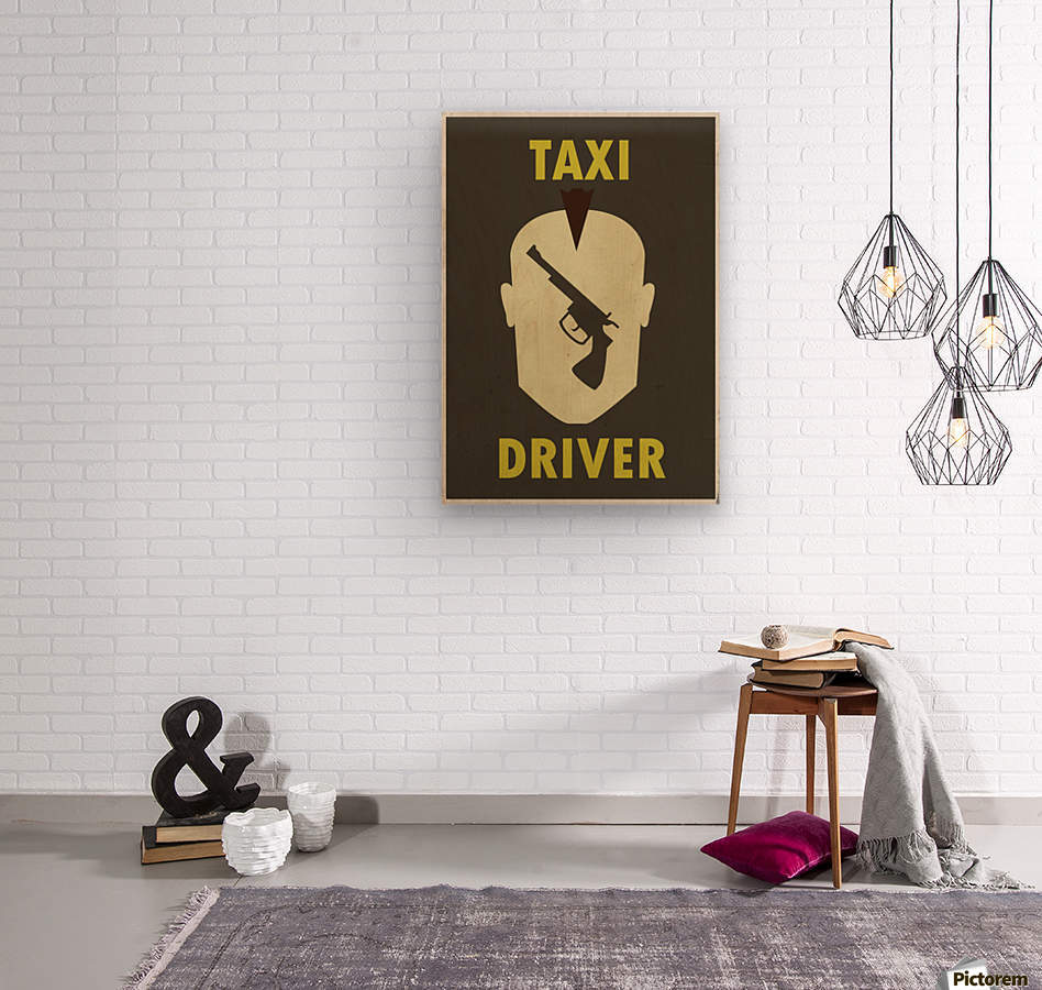 Taxi Driver Vintage Movie Poster  Wood print