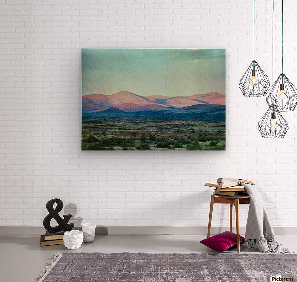 Landscape After A Rain  Wood print