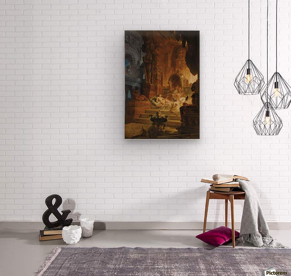Scheherazade and the Sultan  Wood print