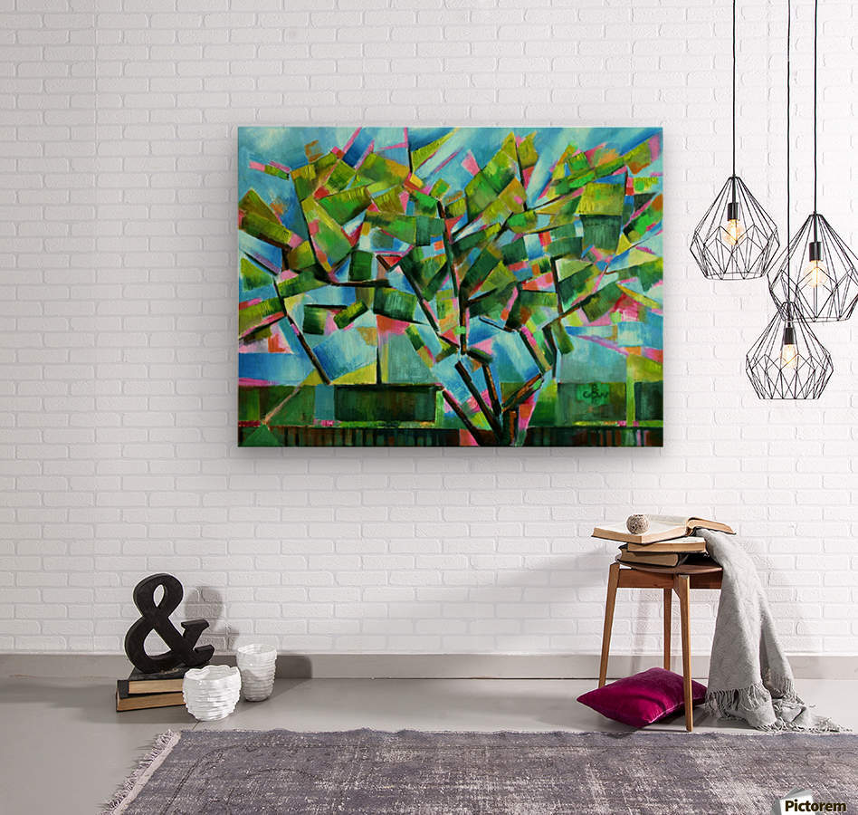 Cubistic Spring at Voorburg - 05-05-16  Wood print