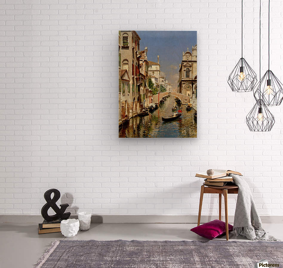 A Venetian Canal with the Scuola Grande di San Marco and Campo San Giovanni e Paolo  Wood print