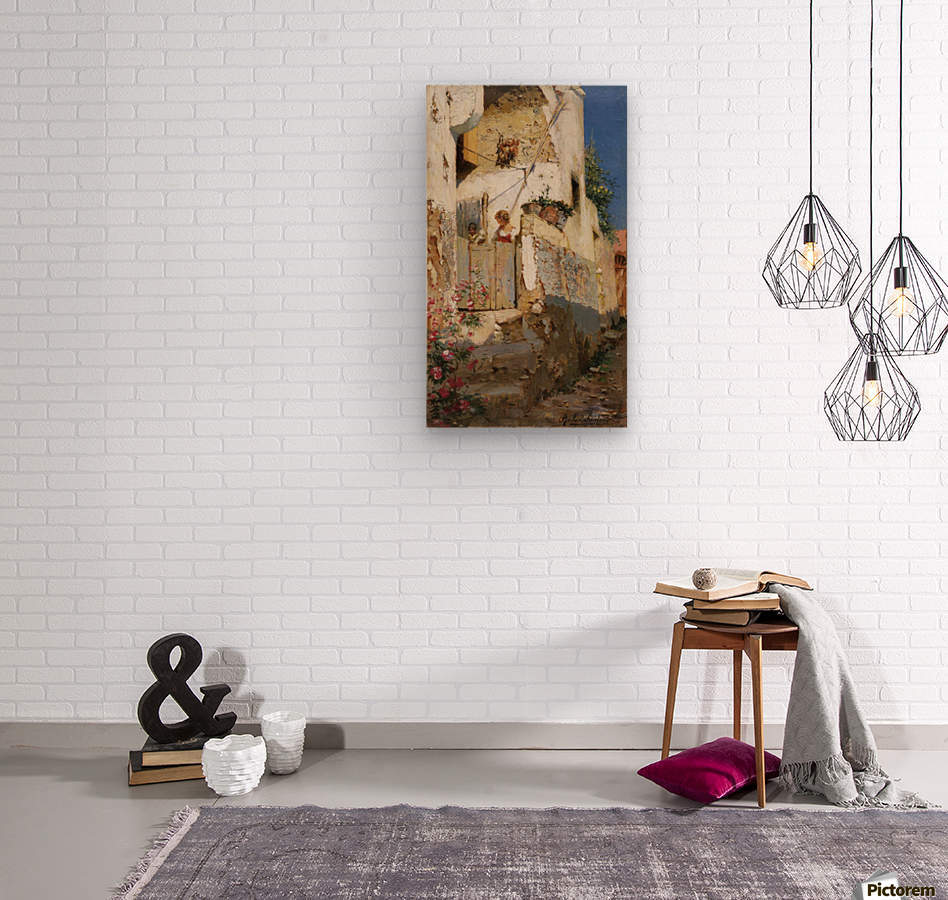 Young girl on Capri  Wood print