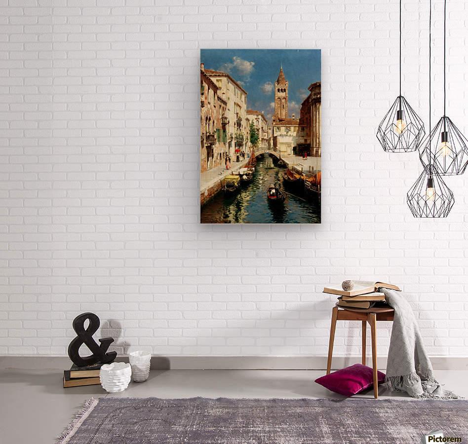 Along Venetian canal  Impression sur bois