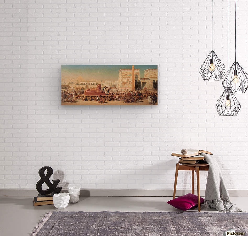 Israel in Egypt  Wood print