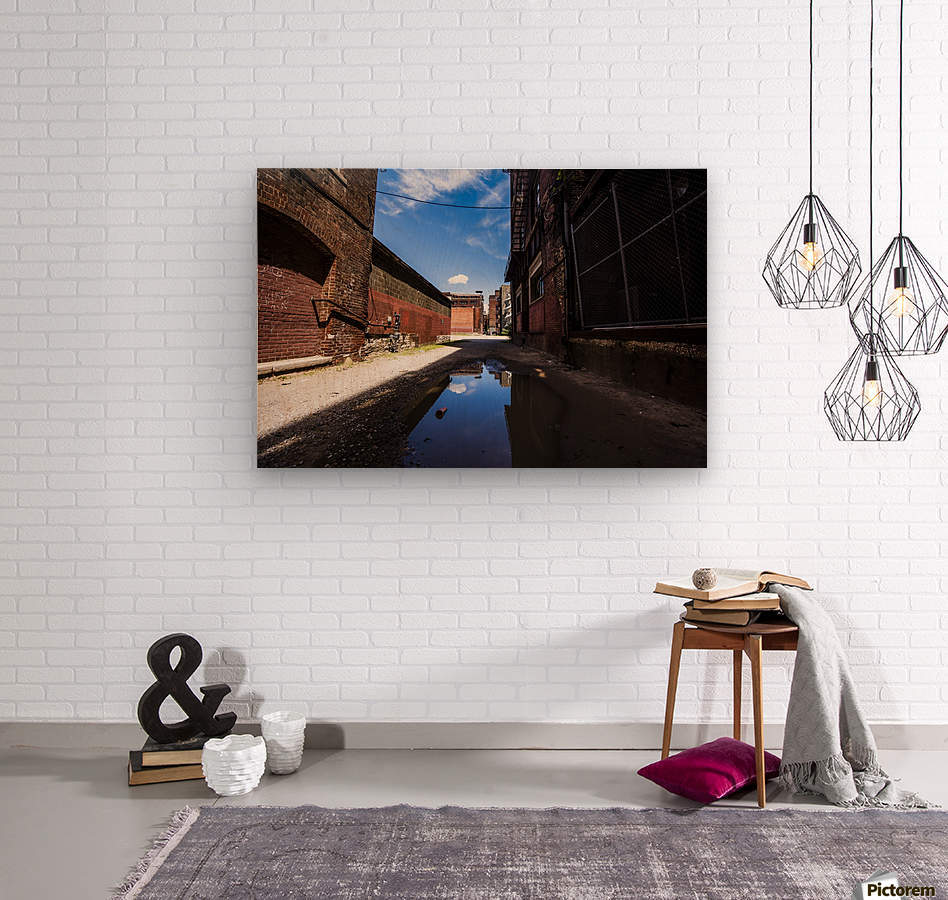 Alley Reflections  Wood print