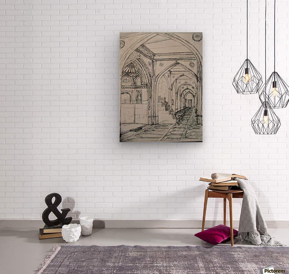 shajaani mosque  Wood print