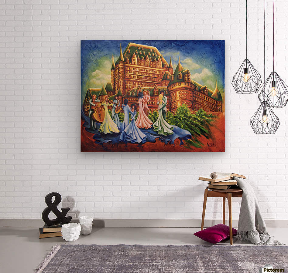 Jour de bal au Château  Wood print