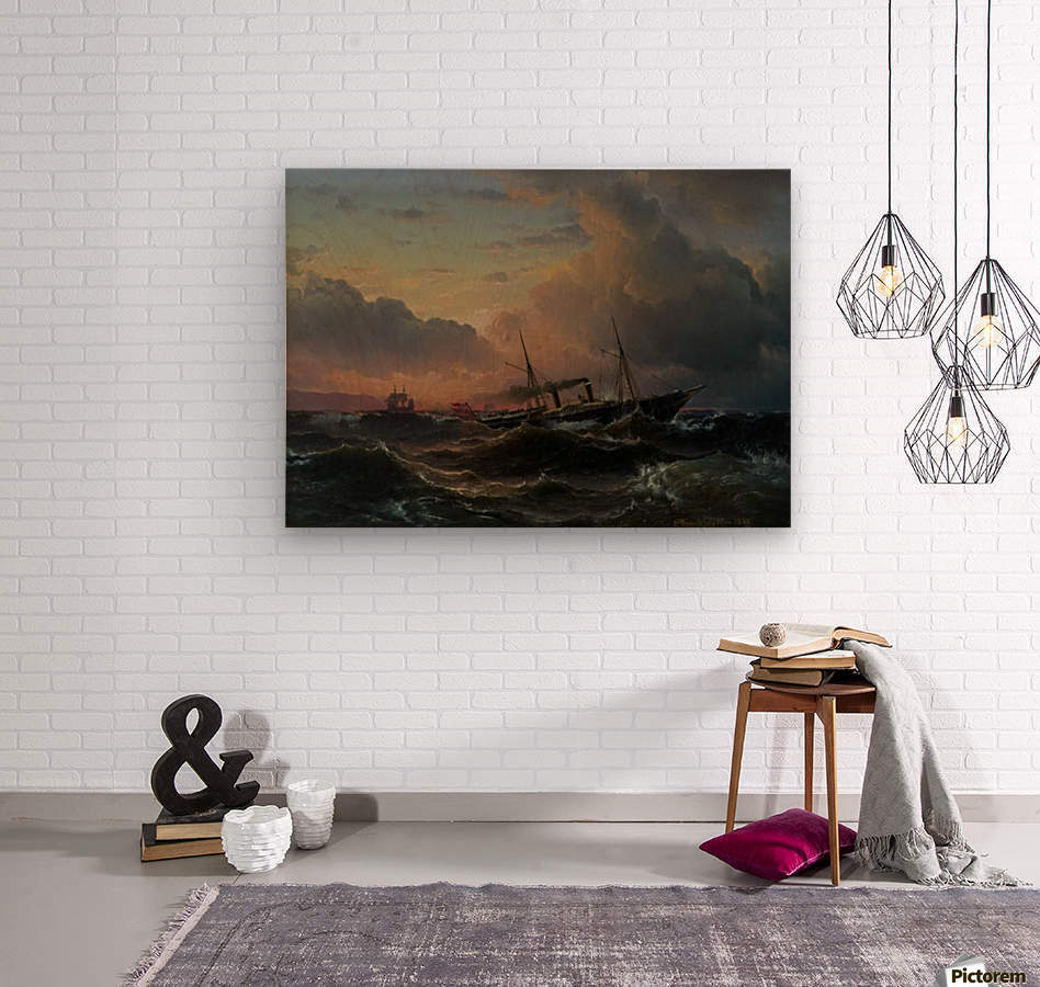 The Princess Louise off the coast of Norway  Wood print