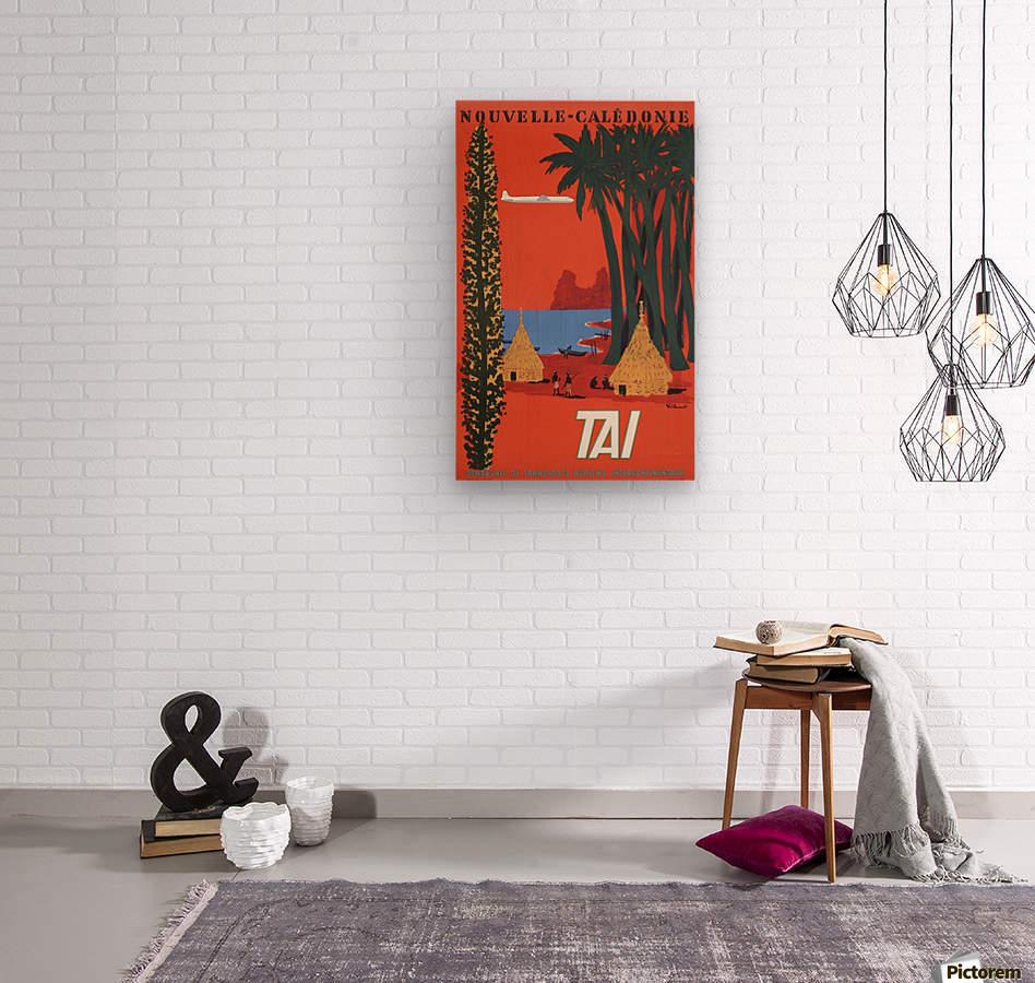 Nouvelle Caledonie TAI vintage travel poster  Wood print