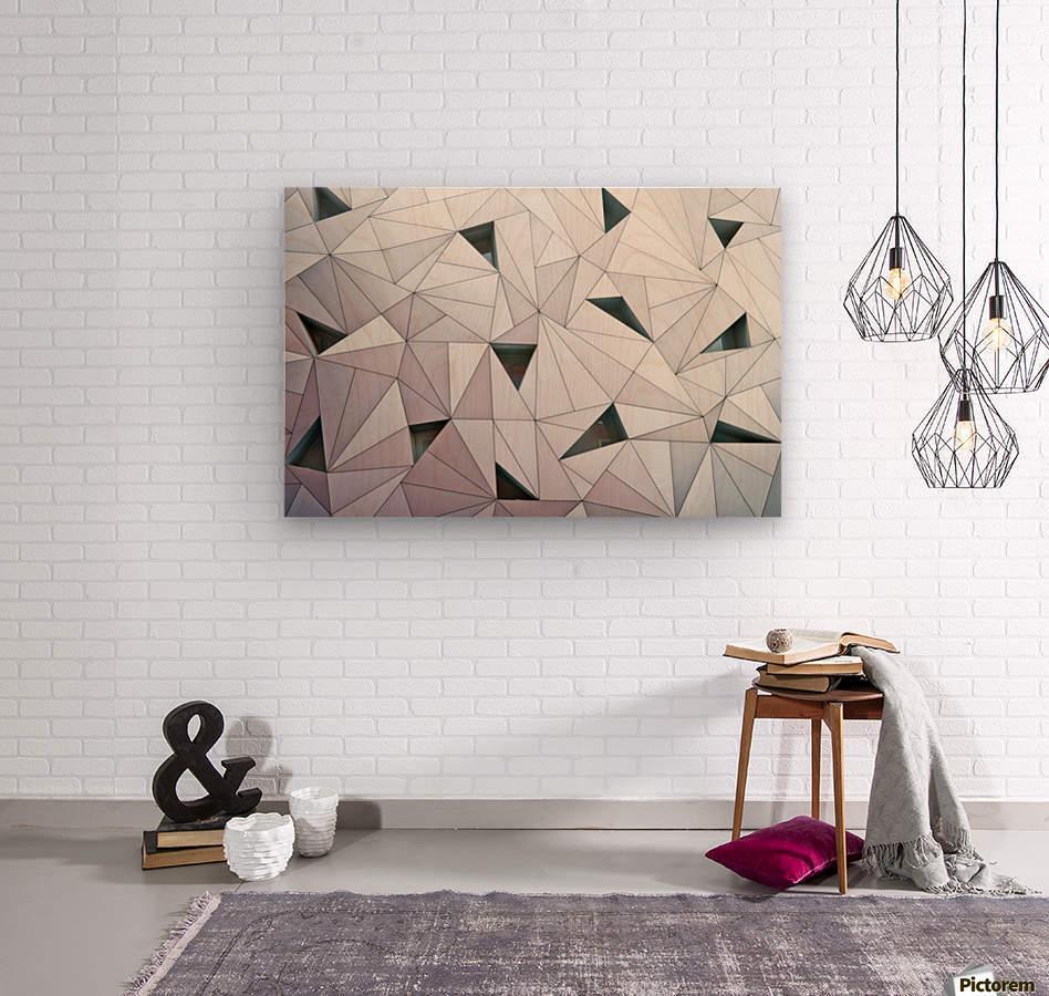 triangulation 1  Wood print
