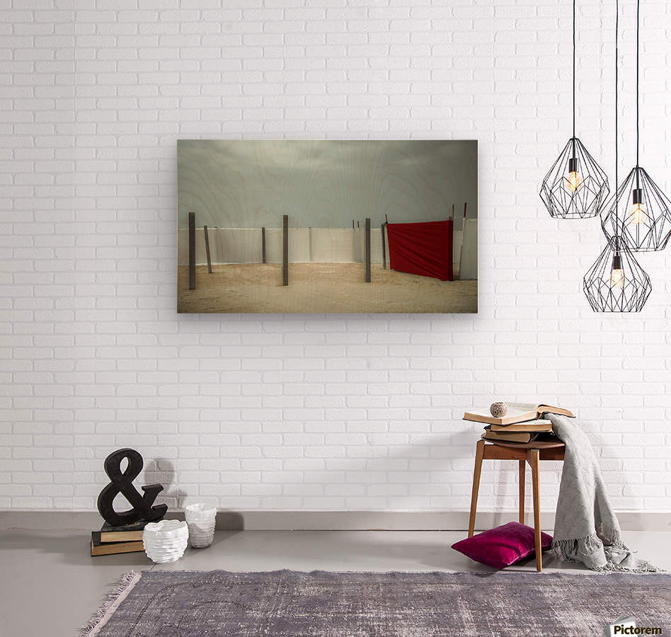Red canvas  Wood print