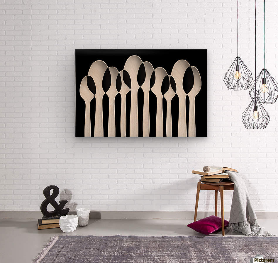 Spoons Abstract:  Forest  Wood print