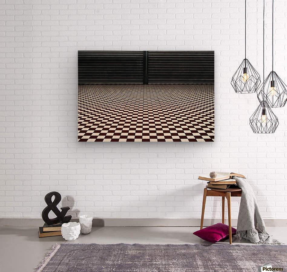 the hypnotic floor  Wood print